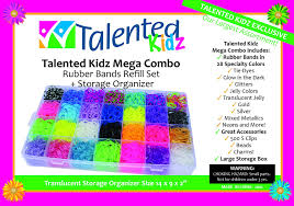 rainbow loom thanksgiving charms amazon com 11 600 authentic rainbow mega refill by talented kidz