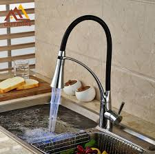 kitchen faucets pull down led light chrome and black pipe kitchen faucet pull down steam