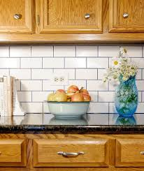 subway tile backsplash in kitchen subway tile with grout backsplash hometalk