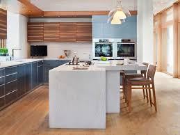 Interiors Of Kitchen Kitchen Waterfall Countertops Legend Interiors Oak Laminate