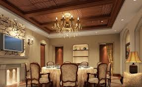 Tray Ceiling Dining Room - tray ceiling trim ideas with brown tray ceiling and chandelier and