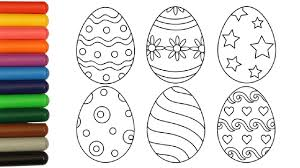 coloring pages easter eggs coloring video for kids youtube