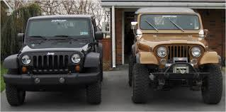 jeep cj to jeep wrangler jk comparison jeepfan com
