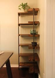diy rustic industrial free standing corner shelves laura makes