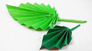 origami leaf paper leaves diy design craft making tutorial easy