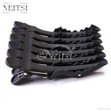crocodile hair neitsi black matte hairdressing hairpin salon crocodile hair