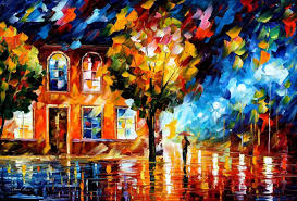 bewitched park u2014 palette knife oil painting art on canvas by