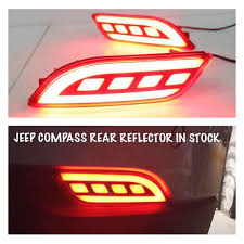 jeep back lights jeep compass buy o e m type back bumper led reflector light for