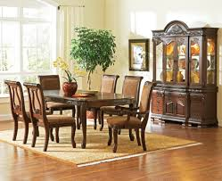 Formal Dining Room Sets For 8 Steve Silver Leona 9 Piece Dining Room Set In Dark Hand Steve