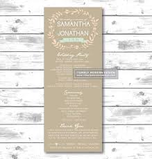 programs for wedding 35 best nathan and ariel wedding program ideas images on