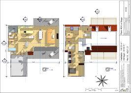 plan maison en u ouvert plan maison forme l