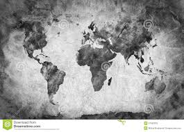 Map Of The World Black And White by Ancient Old World Map Pencil Sketch Vintage Background Stock