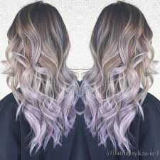 shag haircut brown hair with lavender grey streaks ombré with lilac ends movie hairstyles with colors pinterest