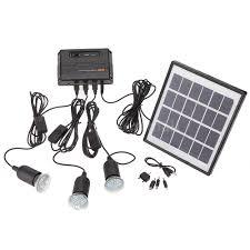 Home Led Light Bulbs by Outdoor Solar Powered Led Lighting Bulb System Solar Panel Home