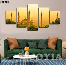 aliexpress com buy 5 panel home decor wall pictures istanbul aliexpress com buy 5 panel home decor wall pictures istanbul turkey dusk landscape painting contemporary canvas art prints for houseroom no frame from