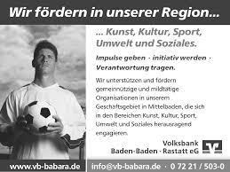 Volksbank Rastatt Baden Baden Fussballverein Bad Rotenfels Juli Ausgabe Fr Mo