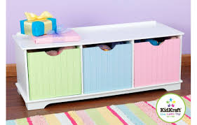 rangement chambres enfants banc de rangement chambre enfant 3 cases blanc decome store