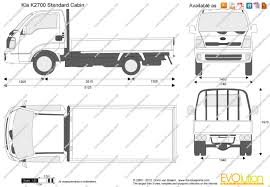 Cabin Blueprint by The Blueprints Com Vector Drawing Kia K2700 Standard Cabin