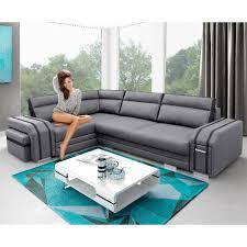 canape avec rangement canapé angle gauche gris et noir avec pouf et rangement avatar dya