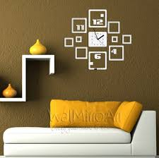 Modern Wall Clock Squares Modern Wall Clock Large Wall Mirror Art For Big Wall