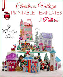 5 christmas village house templates to print diy with paper