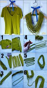 easy no sew t shirt necklace i would probably use a different