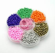 wholesale diy kids craft beads jewelry set plastic box seed beads