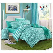 home design bedding nantes geometric and striped printed reversible comforter set