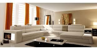 canap cuir beige deco in canape panoramique en cuir beige angle droit venise