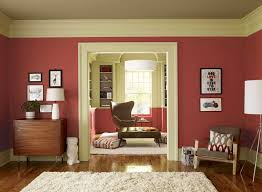 Wall Colours by Uniquefamilyroomcolorschemesdecoratedwithredandcreamwall Makeovers