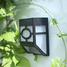 solar deck accent lights elinkume solar powered wall mount 2 led mission style outdoor solar