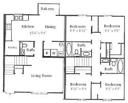 4 bedroom house floor plans simple 4 bedroom floor plans 4 bedroom 1 floor house plans simple