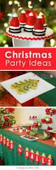 easy christmas party ideas strawberry santa hats