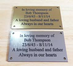 memorial plaques personalised engraved memorial or celebration plaque various sizes