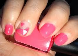 imagenes de uñas pintadas pequeñas tutorial uñas cortas corazón rosa short nails tutorial pink