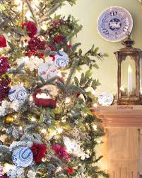 just jan a real christmas tree with bold blue