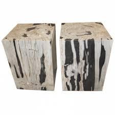 petrified wood end table aire furniture nolita petrified wood stool side table side for