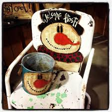 gone country painted chairs pinterest country snowman