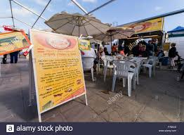 Market Stall Canopy by Sign In A Spanish Tourist Resort Market Stall Advertising Spanish