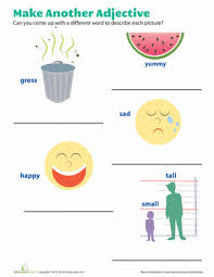 better adjectives worksheet education com