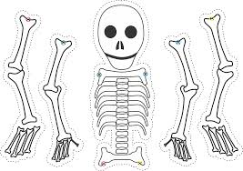Halloween Skeletons by Skeleton Puppets Using This Template From Build A Skeleton