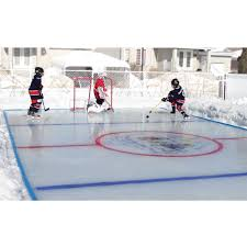 the personalized backyard ice rink large hammacher schlemmer