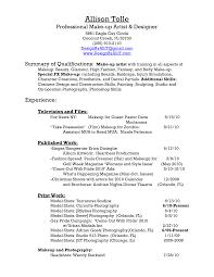Sle Makeup Artist Resume bunch ideas of makeup resume cover letter sle makeup artist resume