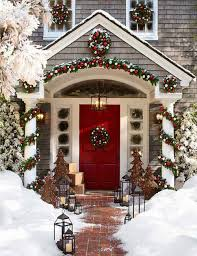christmas outdoor christmas decorations ideas byron house snow