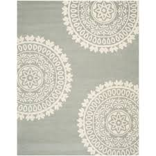 safavieh bella grey ivory 7 ft x 7 ft round area rug bel121a 7r