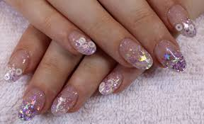 cute lilac glitter acrylic nails youtube