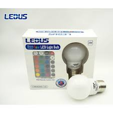 Color Led Light Bulbs by Remote Control Color Led Light Bulb By Ledus 11street Malaysia