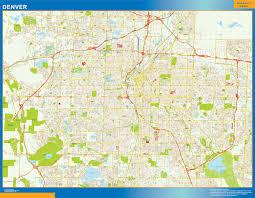 Denver Maps World Wall Maps Store Denver Street Map More Than 10 000 Maps