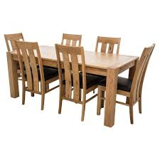 casa oakley extending table and 6 chairs dining set leekes