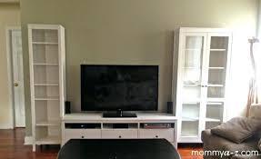 bookcase ikea entertainment unit hemnes tv stand family room